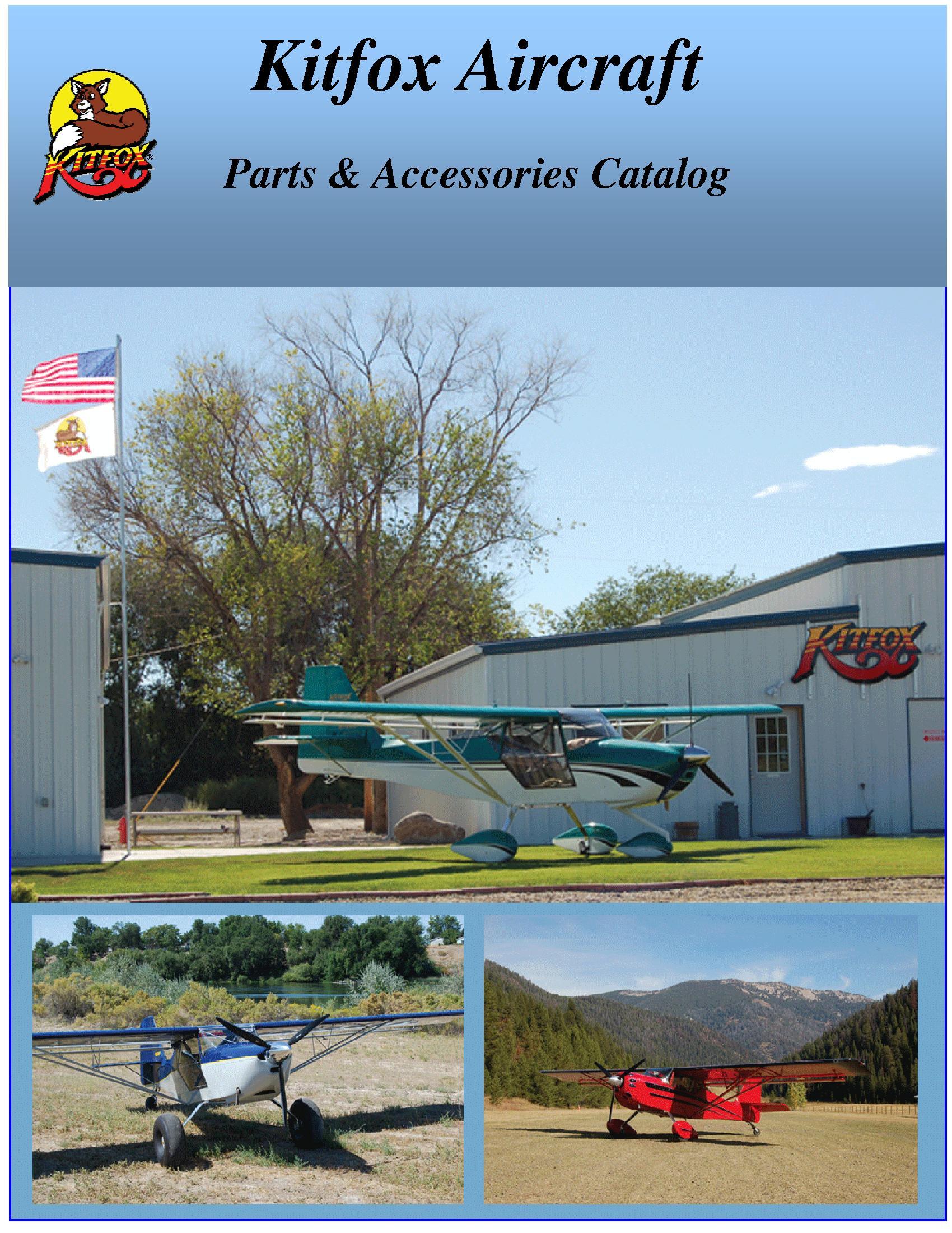 Kitfox Parts Catalog Airplane Wing Theory